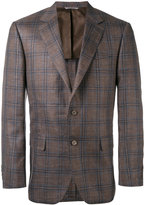 Canali plaid classic blazer - men - Silk/Linen/Flax/Cupro/Wool - 50