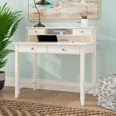 Beachcrest Home Feagin Solid Wood Secretary Desk with Hutch