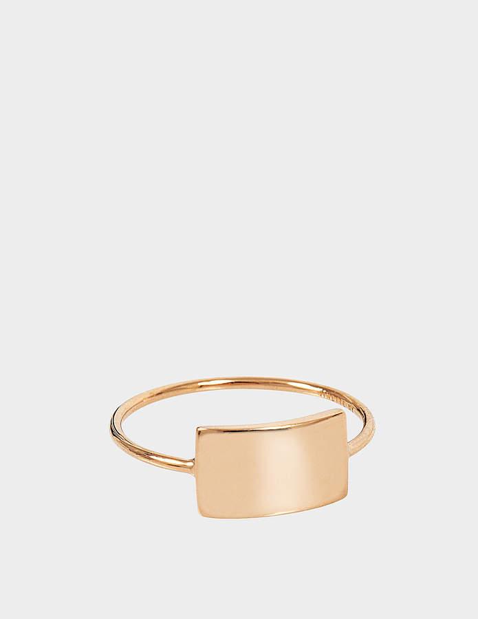 ginette_ny Mini Ever Rectangle 18-karat rose gold ring