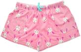 Angelina Pink Bunny Side-Pocket Fleece Boxers - Plus Too