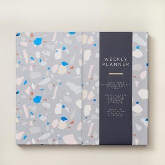 Indigo Paper Guided Stationery Book Terrazzo Navy