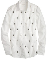 J.Crew Collection jeweled shirt
