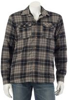 Ocean Current Men's Plaid Sherpa-Lined Shirt Jacket
