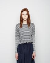 Organic by John Patrick striped long sleeve combo tee