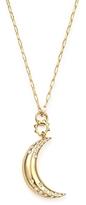 Monica Rich Kosann 18K Yellow Gold Small Moon Charm Necklace, 17
