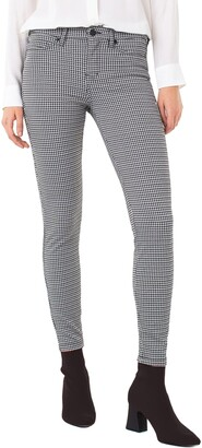 Liverpool Houndstooth Check Super Skinny Knit Pants