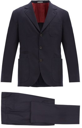 Brunello Cucinelli Single-breasted Wool-twill Suit - Blue