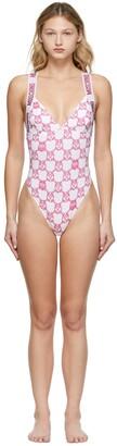 Moschino Pink Chain Print Bodysuit