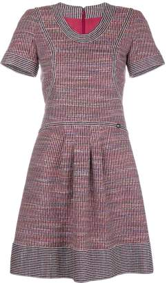 Chanel Pre-Owned tweed short-sleeved dress