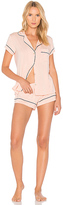 Eberjey Gisele Short PJ Set in Blush