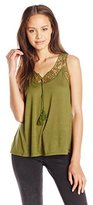 It's Our Time Juniors Crochet Lace Insets Babydoll Tunic