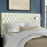 Three Posts Kempst Upholstered Panel Headboard Size: Full/Queen, Upholstery: Ivory Leather