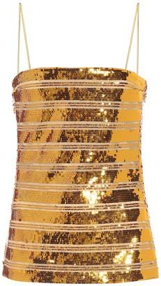 Galvan Metallic sequin camisole