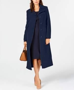 Anne Klein Petite Single-Breasted Maxi Coat