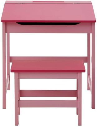 Premier Housewares Kids Desk And Stool Set- Pink