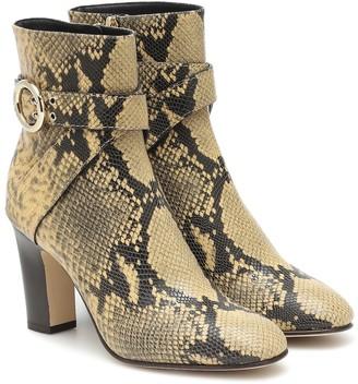 Jimmy Choo Blanka 85 leather ankle boots