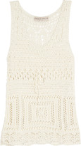 Emilio Pucci Open-knit cotton tank