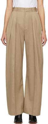 J.W.Anderson Beige Wool Buckled Wide-Leg Trousers