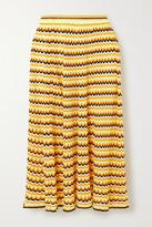 Victoria Victoria Beckham Victoria, Victoria Beckham Open-knit Midi Skirt
