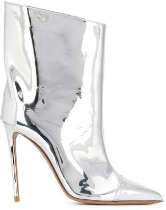 Alexandre Vauthier Alex Low metallic-print boots