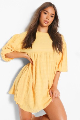 boohoo Drop Sleeve Smock Dress