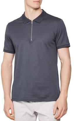 Reiss Jude Zip-Neck Slim Fit Polo Shirt