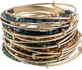 Lustre Bead 21 Expandable Wire Bangles Set
