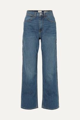 Eve Denim Carolyn High-rise Straight-leg Jeans - Mid denim