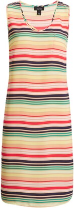 Halogen X Atlantic-Pacific Print Sleeveless Woven Dress
