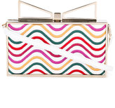 Sara Battaglia Lady Waves clutch - women - Leather/Bos Taurus - One Size