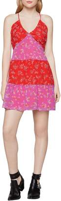 BCBGeneration Hibiscus Floral Flared Mini Dress