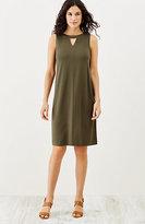 J. Jill Wearever Pleated-Back Sleeveless Dress