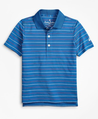 Brooks Brothers Boys Performance Series Thin Stripe Polo Shirt