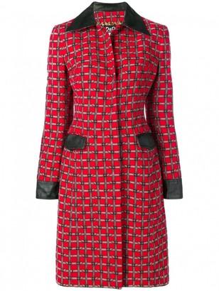 Dolce & Gabbana Red Cotton Coat for Women Vintage