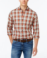 Cutter & Buck Men's Big and Tall Upland Plaid Long-Sleeve Shirt