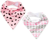 First Impressions 2-Pk. Printed Bandana Bibs, Baby Girls (0-24 months), Only at Macy's