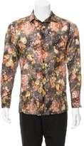 Bottega Veneta Sheer Floral Print Shirt