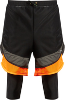 adidas Film Yarn layered shorts
