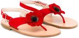 Pépé Papavero poppy sandals - kids - Leather/Suede - 22