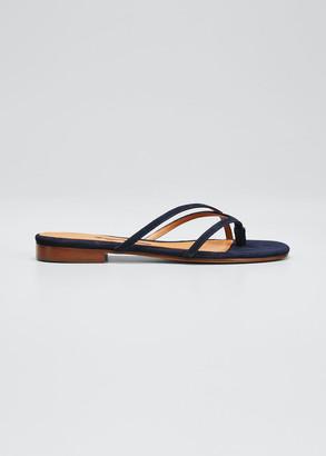 Emme Parsons Sam Metallic Napa Thong Sandals