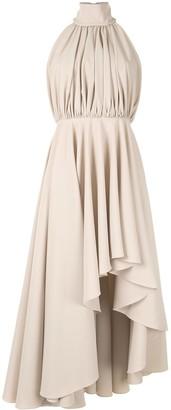 16Arlington Hana dip-hem dress