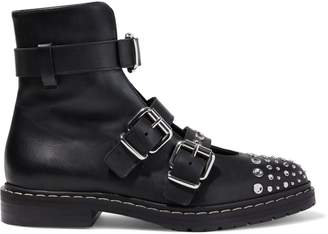 McQ Fate Studded Leather Ankle Boots