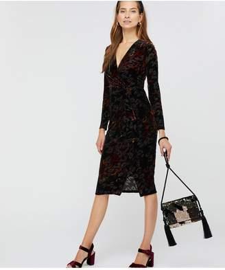 Monsoon Val Animal Devore Print Dress - Black