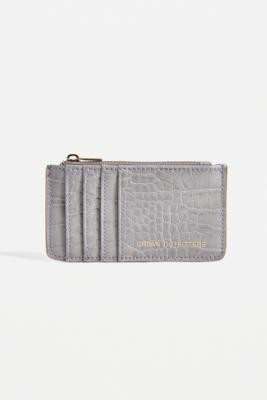 Urban Outfitters Faux Leather Cardholder Wallet - Purple ALL at