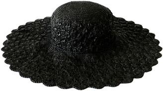 Maraina London Carla Large Raffia Sun Hat Black