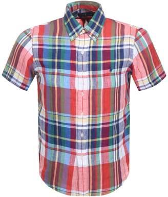 Ralph Lauren Short Sleeved Check Shirt Navy