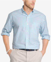 Izod Men's Plaid Long Sleeve Oxford Shirt