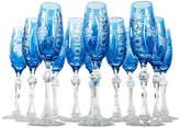 One Kings Lane Vintage Crystal Champagne Flutes