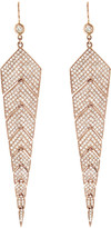Jacquie Aiche Full Diamond Pave Fishtail Earrings - Rose Gold