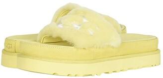 UGG Laton Fur Slide (Black) Women's Shoes